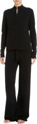 Barneys New York Cashmere Zip Front Sweater