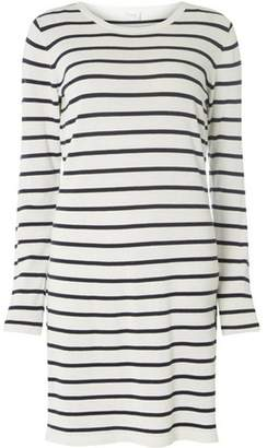 Dorothy Perkins Womens **Vila White and Navy Striped Knitted Shift Dress