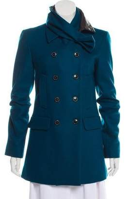 Roland Mouret Double-Breasted Wool Coat