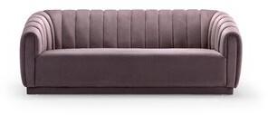 Everly Quinn Darley Velvet Upholstered Vertical Channel-Quilted Shelter Sofa Quinn