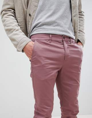 Asos Skinny Chinos In Purple Taupe
