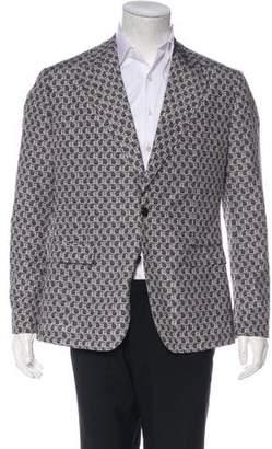Dolce & Gabbana Virgin Wool-Blend Polka Dot & Scooter Print Blazer w/ Tags