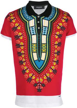 DSQUARED2 novelty print polo shirt