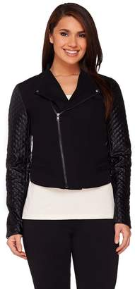 Walter View By Baker View by Baker Jacket with Faux Leather Quilted Sleeves