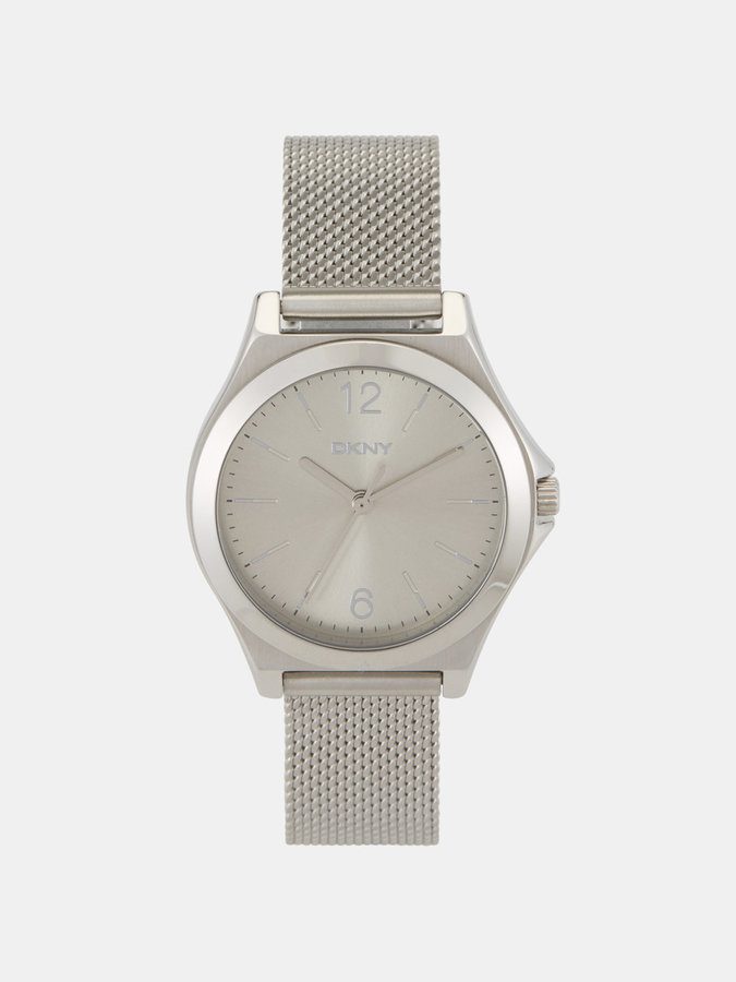 DKNY Parsons Stainless-Steel Silver-Tone Mesh Watch
