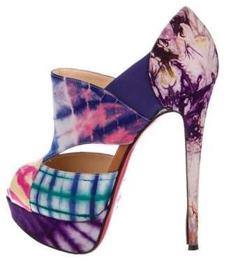 46ae01b44ba0 Christian Louboutin Pink Peep Toe Pumps - ShopStyle