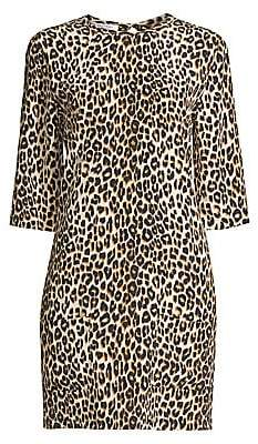 Equipment Women's Aubrey Silk Animal Print Dress