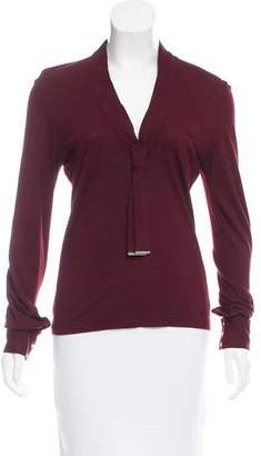 Barbara Bui Wool-Blend V-Neck Sweater