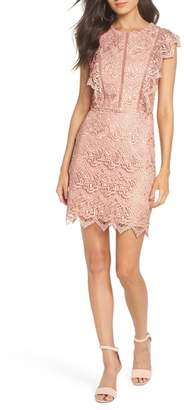 Adelyn Rae Raquel Lace Sheath Dress
