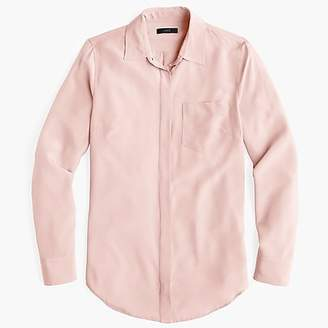 J.Crew Petite silk button-up shirt