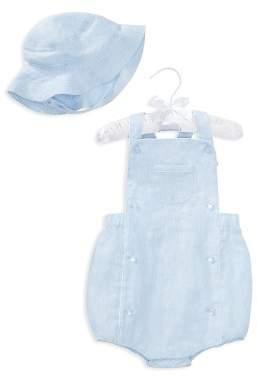 Ralph Lauren Boys' Linen Shortall & Hat Set - Baby