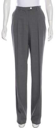 Les Copains Wool Wide-Leg Pants Grey Wool Wide-Leg Pants