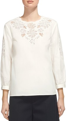 Whistles Beatrice Cutwork Top $230 thestylecure.com
