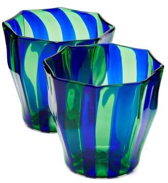 Campbell-rey - Rosanna Murano Striped Glasses - Green Multi