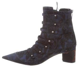 Christian Dior Jacquard Ankle Boots