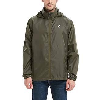 Common District Mens Waterproof Lightweight Rain Jacket Active Outdoor Hooded Raincoat L