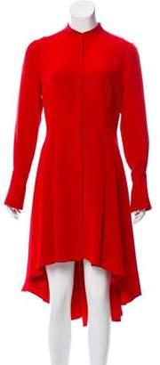 Alexander McQueen Silk High-Low Dress