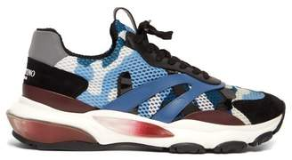 Valentino Bounce Raised Sole Low Top Trainers - Mens - Blue