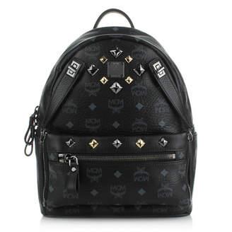 MCM Dual Stark Backpack Visetos Small Black