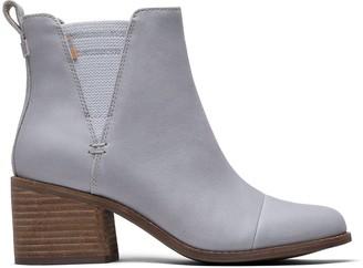 Toms Grey Leather Esme Women's Booties