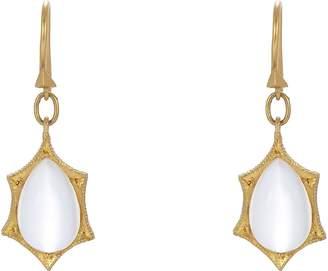 Cathy Waterman Women's Rainbow Moonstone Drop Earrings