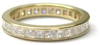 Tiffany & Co. 18K Yellow Gold Princess Cut Diamond Eternity Band Size 5 Ring