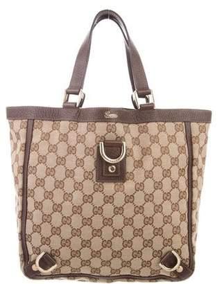 01ca9c9d45b Gucci Canvas Tote Bag - ShopStyle