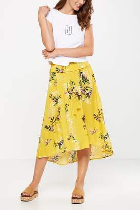 Cotton On Woven Romy Shirred Maxi Skirt