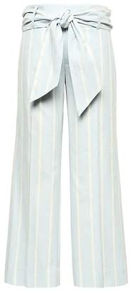 Banana Republic Logan Trouser-Fit Cropped Stretch Linen-Cotton Pant with Tie Waist