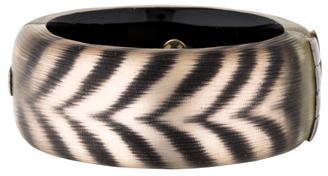Alexis BittarAlexis Bittar Lucite Zebra Hinged Bangle Bracelet
