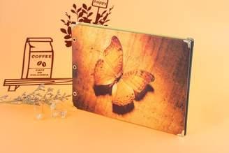Scrapbook nikstoreinus Morden Art Design Orange Butterfly Sticky Type Album Wedding Photos Children Family Memory Record