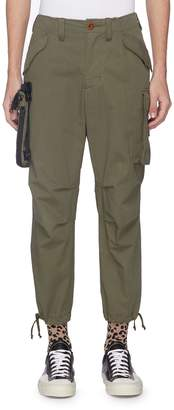 Kolor x PORTER detachable pouch ripstop cargo pants