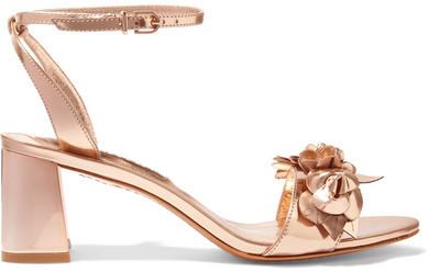 Sophia Webster - Lilico Appliquéd Metallic Leather Sandals - Gold