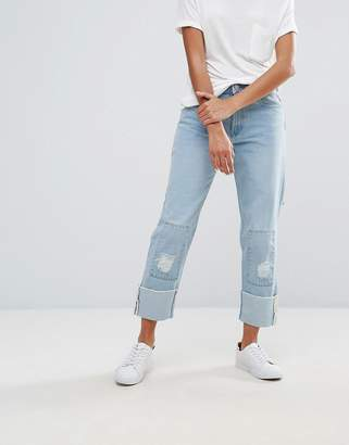 WÅVEN Aki Boyfriend Jeans with Badges and Patches