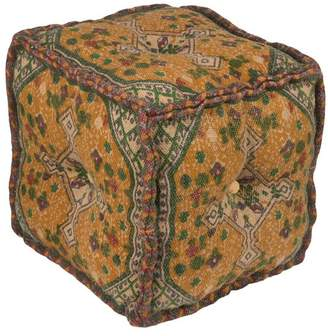 Surya Shadi Cube Pouf, Neutral