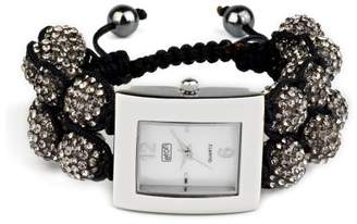 Eton Women's Quartz Watch with Mother of Pearl Dial Analogue Display and Grey Bracelet 3019L-GY