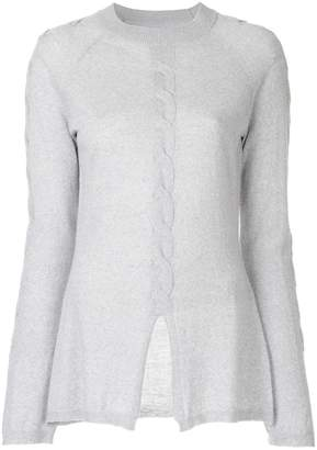 Onefifteen twist front knitted top
