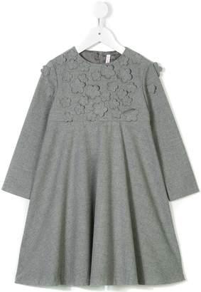 Il Gufo floral patch dress