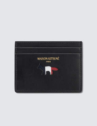 MAISON KITSUNÉ Par Rec Tricolor Leather Card Holder