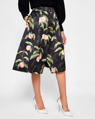 Ted Baker ALESSIO Peach Blossom wrap skirt