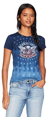 Liquid Blue Women's Lynyrd Skynyrd Gimme Back Bullets Stars Graphic Tee