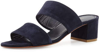 Mansur Gavriel Suede Two-Strap Sandals