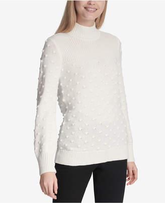 Calvin Klein Popcorn-Knit Mock Turtleneck Sweater