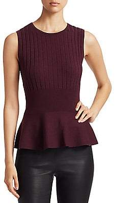 Saks Fifth Avenue Women's COLLECTION Wool Elite Ribbed Sleeveless Peplum