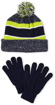 Capelli New York Two-Piece Stripe Pom-Pom Hat & Gloves Set