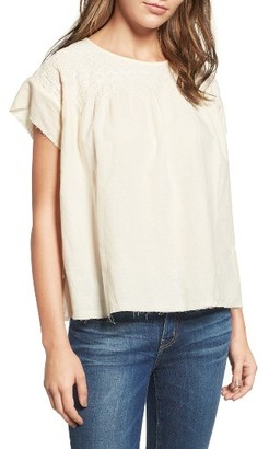 Women's Current/elliott The Smocked Cotton Tee $238 thestylecure.com