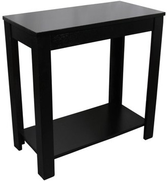 "Ore International 24"" Black Chair Side Table"