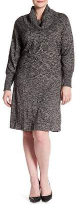 Sandra Darren Sweater Knit Dress (Plus Size)