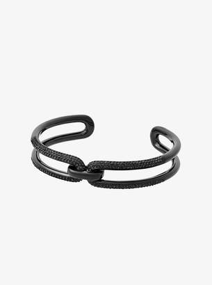 Michael Kors Black-Tone Chain-Link Cuff