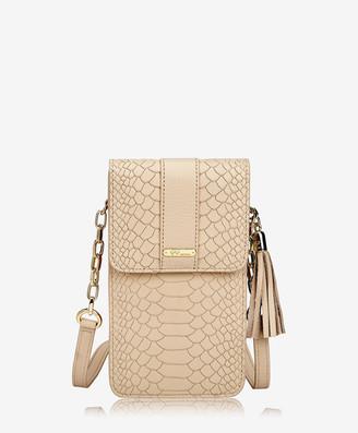 GiGi New York Penny Phone Crossbody Bag, Almond Embossed Python
